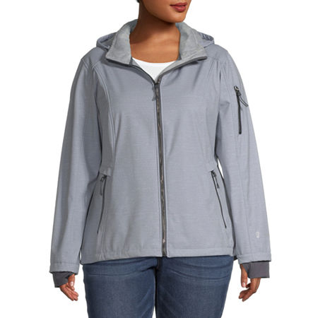 Free Country Wind Resistant Water Resistant Midweight Softshell Jacket-Plus, 3x , Silver