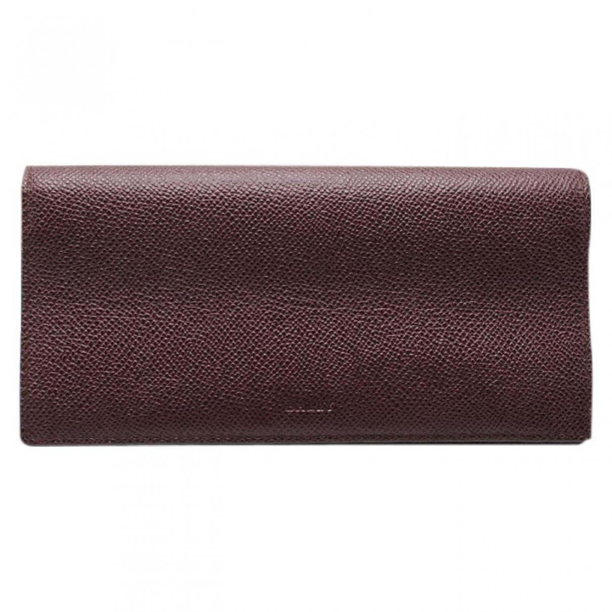 Bally \N Burgundy Leather wallet for Women \N