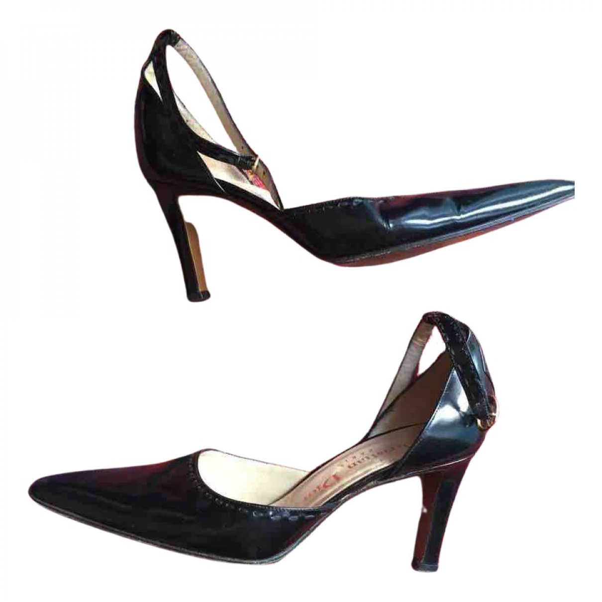 Dior N Black Leather Heels for Women 6 UK