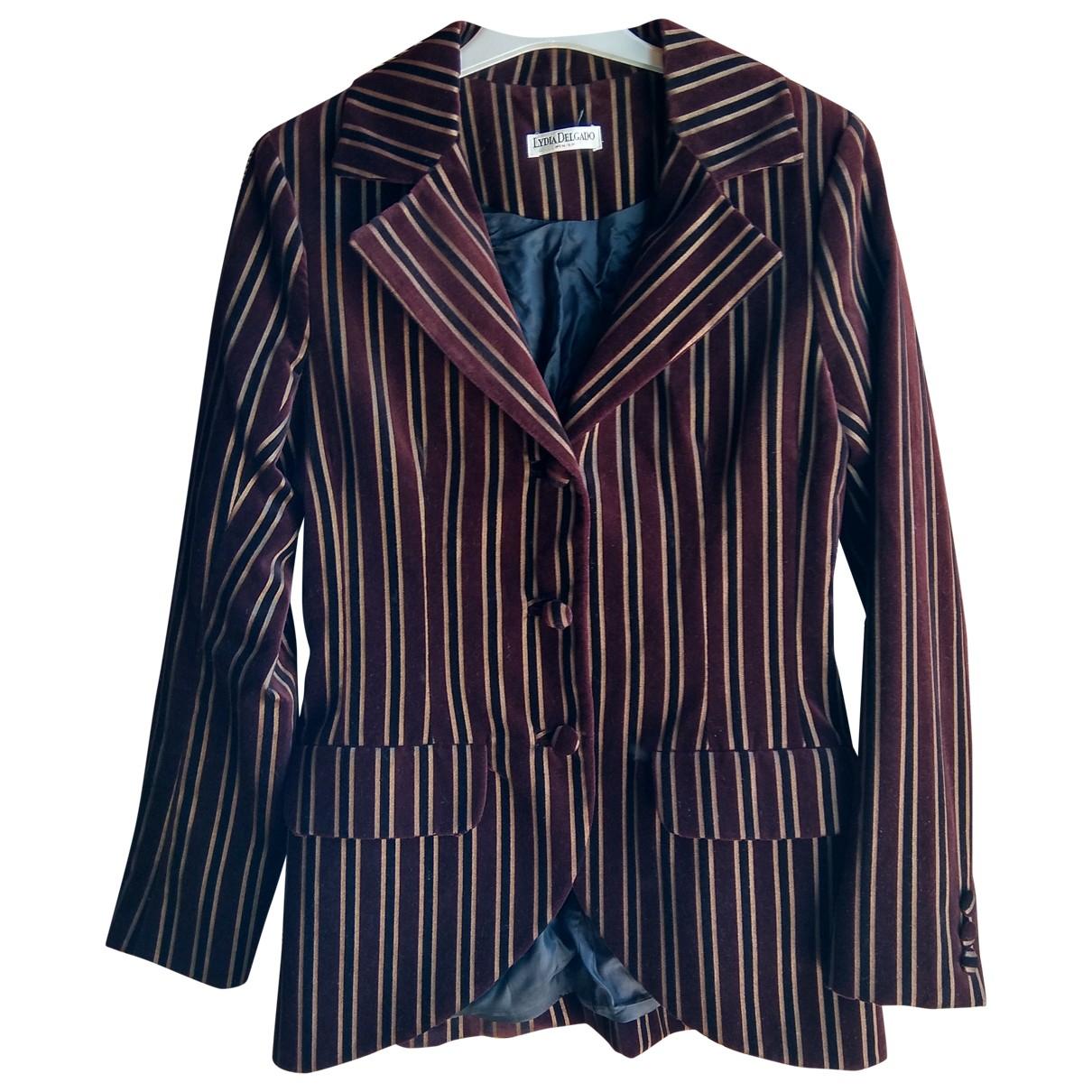 Non Signé / Unsigned \N Burgundy Velvet jacket for Women 38 FR
