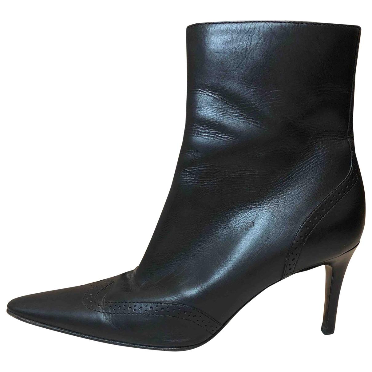 Ralph Lauren \N Black Leather Boots for Women 7.5 US