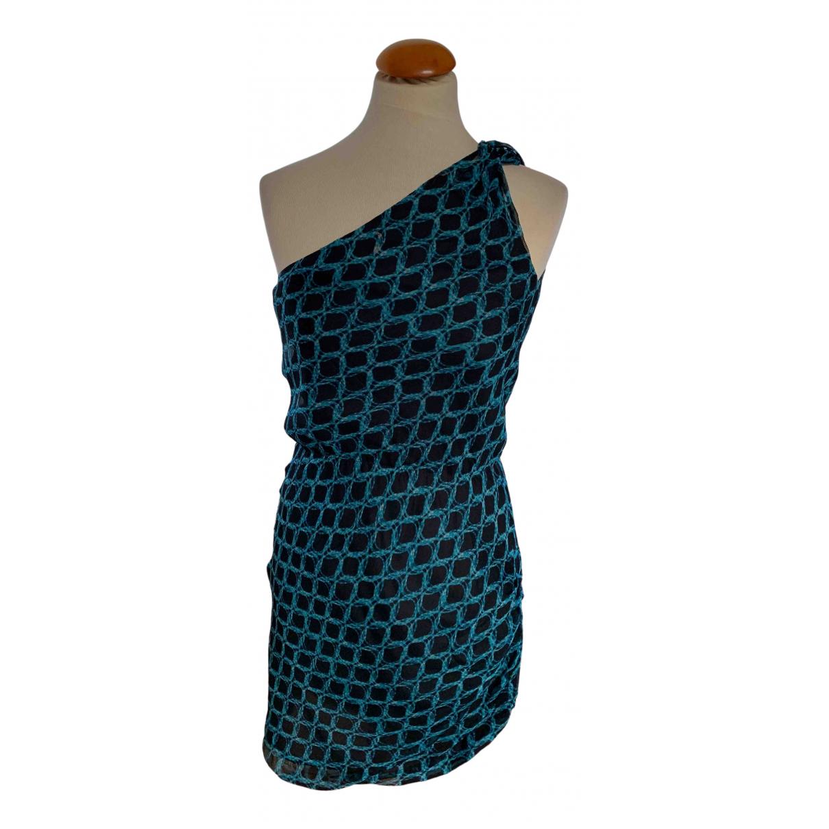 Halston Heritage \N Kleid in  Blau Seide