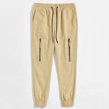Pantalones para hombre Bolsillo Liso Casual