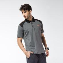 Men Colorblock Letter Graphic Sports Polo Shirt
