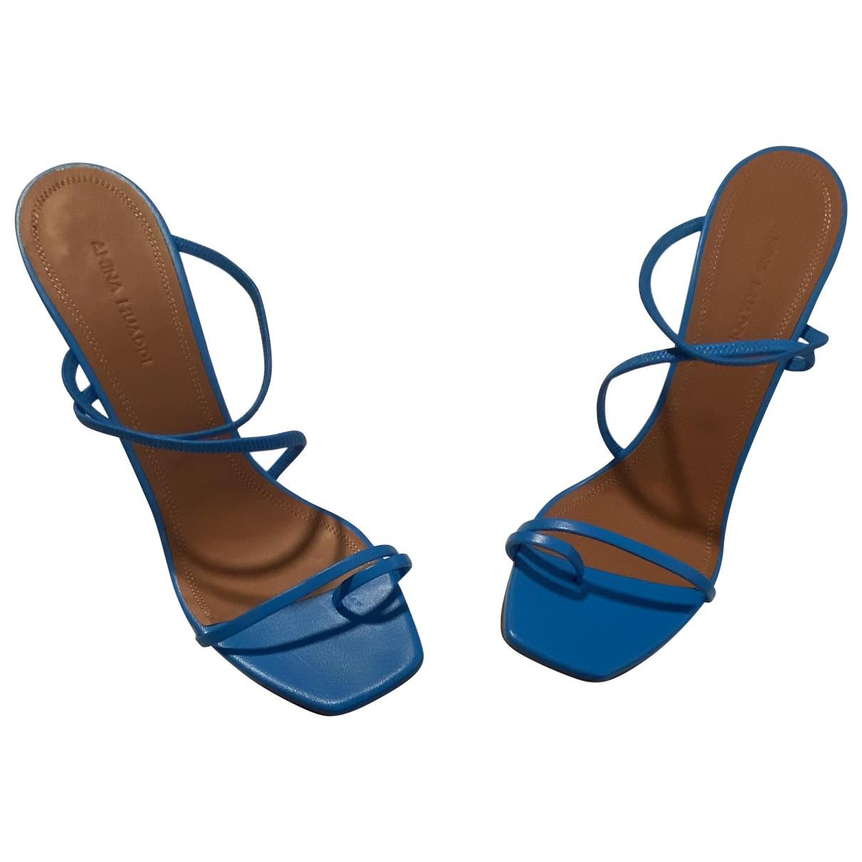 Amina Muaddi \N Sandalen in  Blau Leder