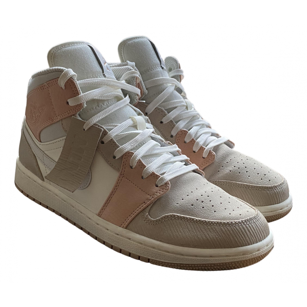 Jordan Air Jordan 1  Beige Leather Trainers for Women 8 UK