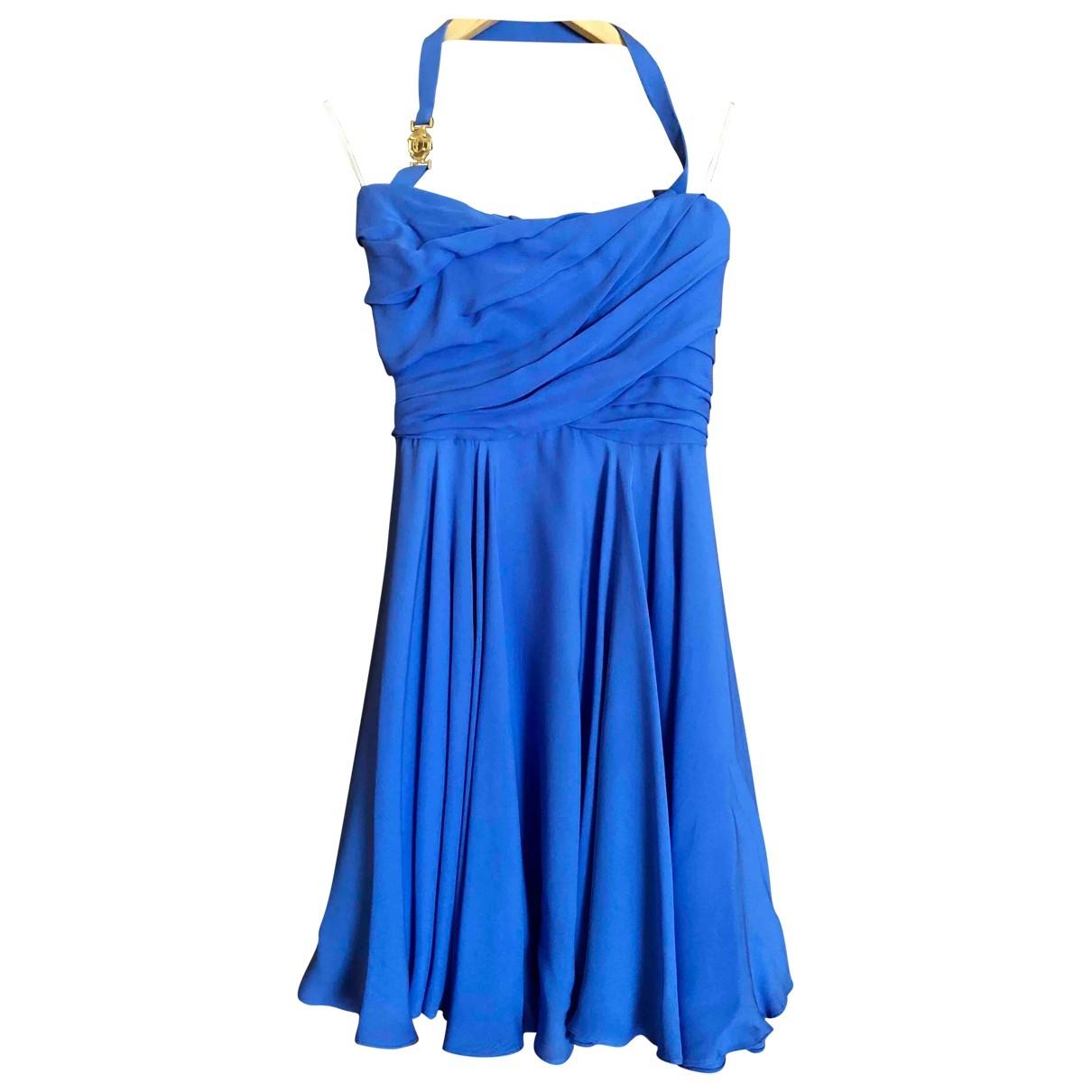 Versace - Robe   pour femme en soie - bleu