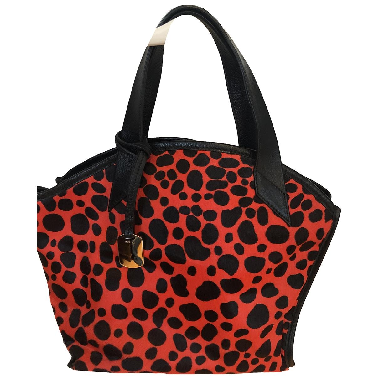 Furla \N Red Pony-style calfskin handbag for Women \N