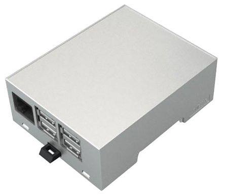 Italtronic Modulbox DIN Rail Series For Use With Raspberry Pi 2B, Raspberry Pi B+, Grey Raspberry Pi Case