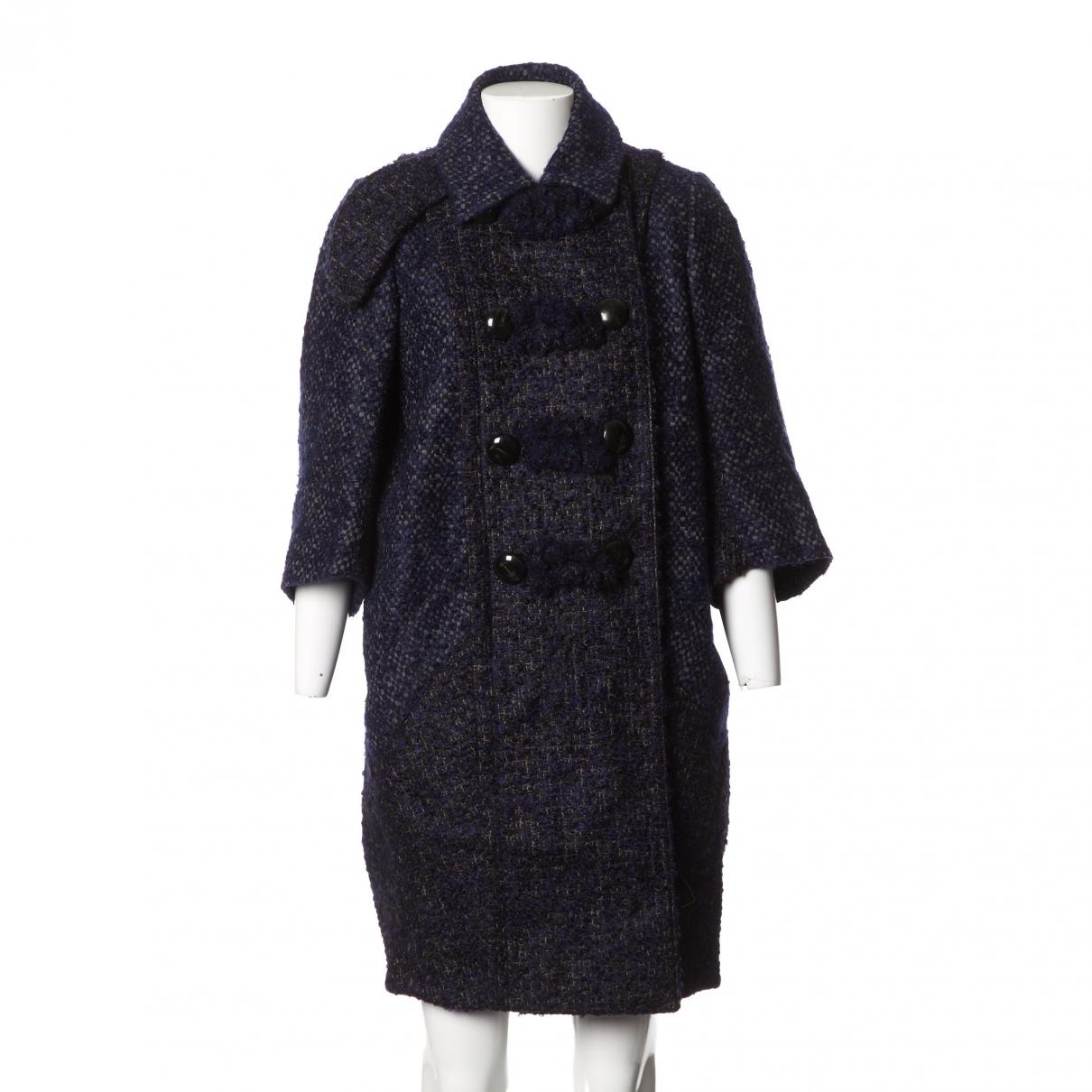 Louis Vuitton \N Maentel in  Marine Wolle