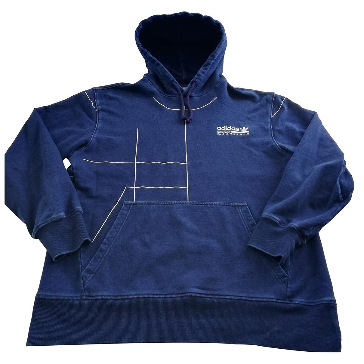 Adidas - Pulls.Gilets.Sweats   pour homme en coton - marine