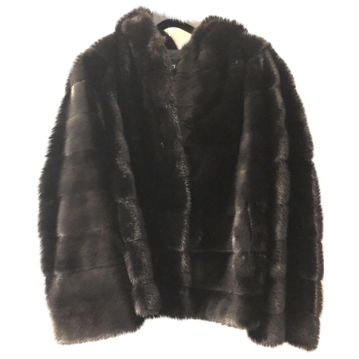 Giuliana Teso - Manteau   pour femme en vison - noir
