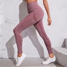 Sports Leggings mit breitem Band und Space Dye