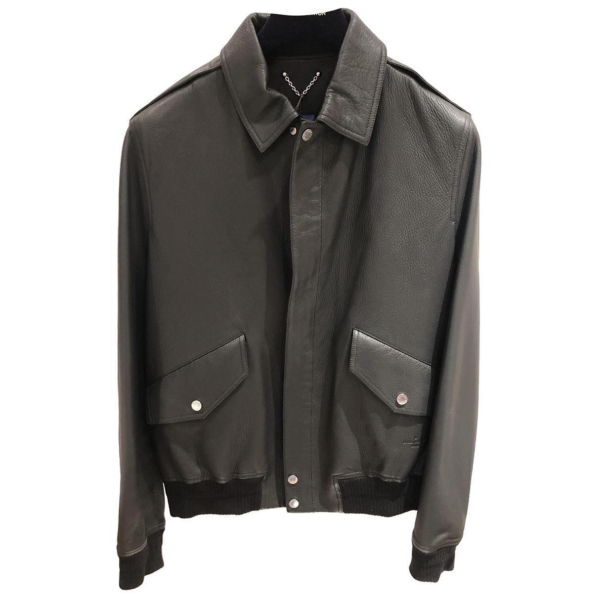 Louis Vuitton - Vestes.Blousons   pour homme en cuir - noir