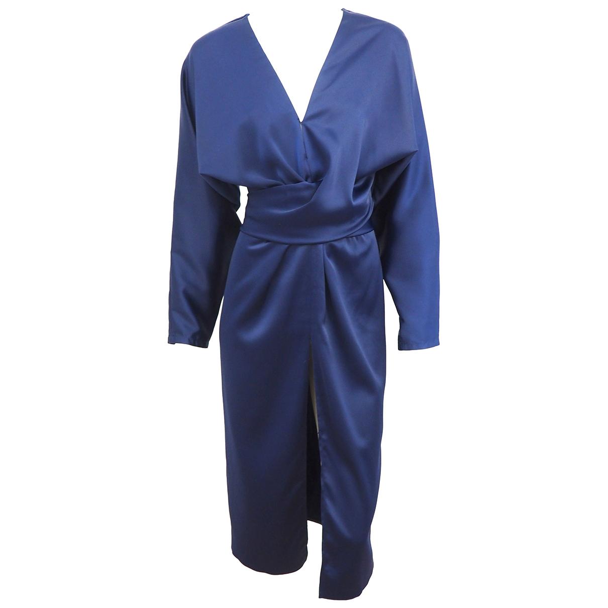 Asos \N Kleid in  Marine Polyester