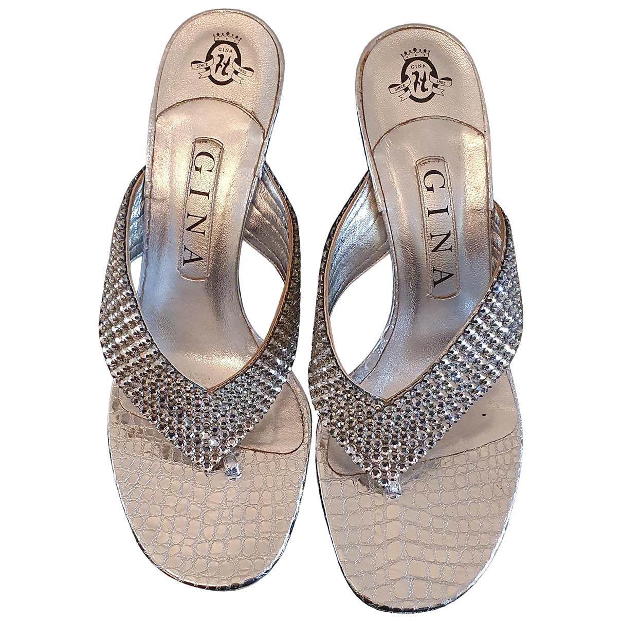 Gina - Escarpins   pour femme en cuir - metallise