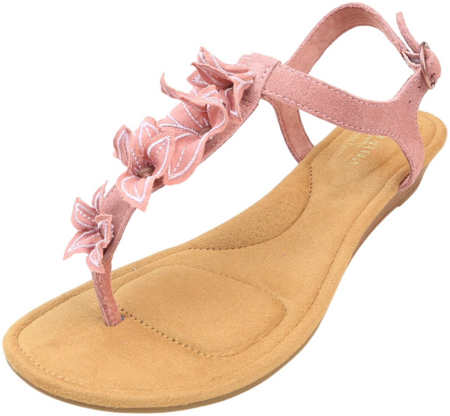 Koolaburra By Ugg Women's Arely Ash Rose Suede Wedged Sandal - 7.5M