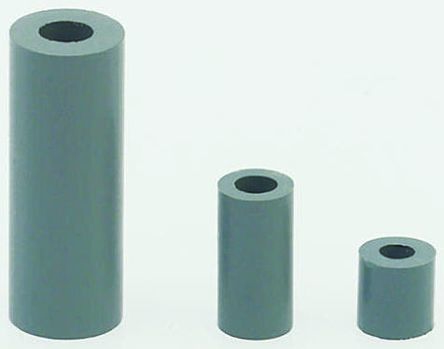 Richco SS 6 X 1M, 1m High CPVC Round Spacer for M3, No.6 Screw