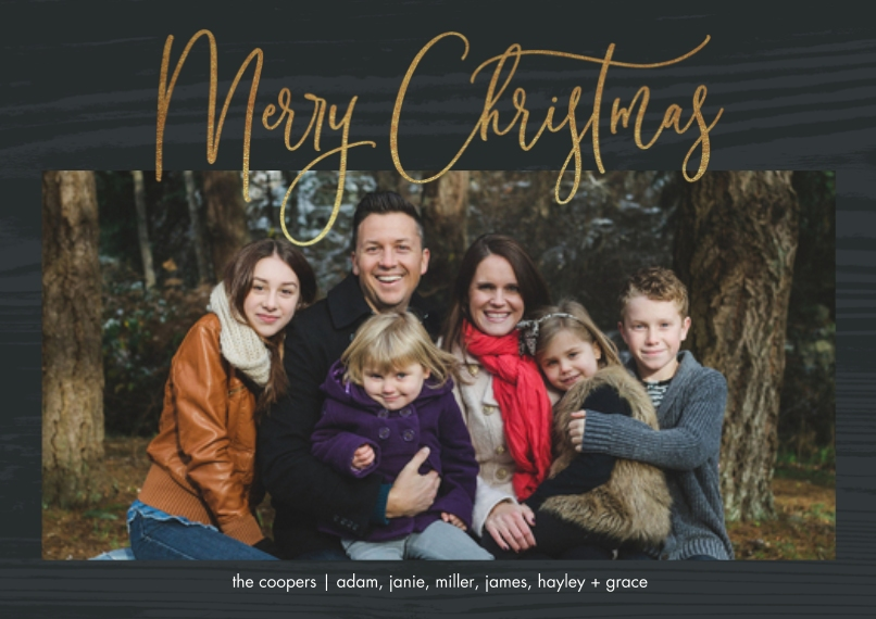Christmas Photo Cards 5x7 Cards, Premium Cardstock 120lb, Card & Stationery -Beautiful Script