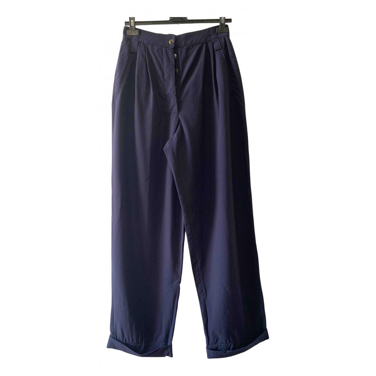 Jean Paul Gaultier N Blue Trousers for Women 44 IT