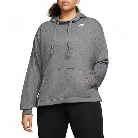 Nike Womens Hooded Neck Long Sleeve Hoodie Plus, 2x , Gray