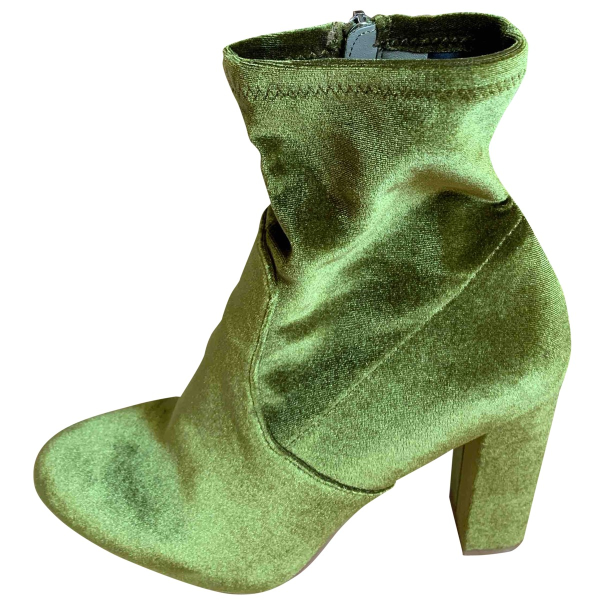 Steve Madden \N Green Velvet Ankle boots for Women 39 EU