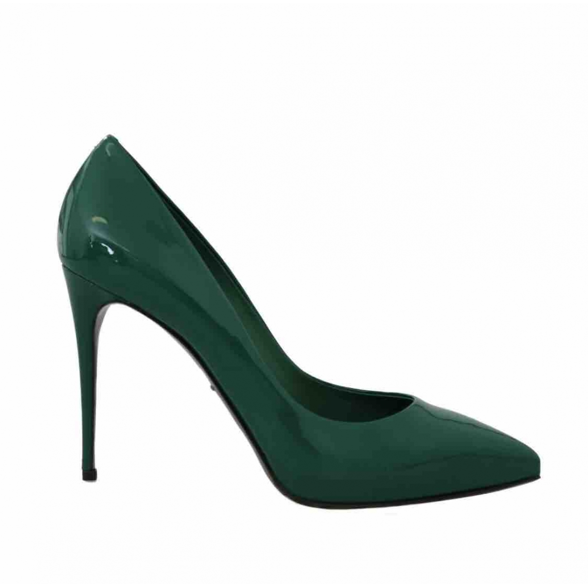Dolce & Gabbana \N Green Patent leather Heels for Women 39 EU