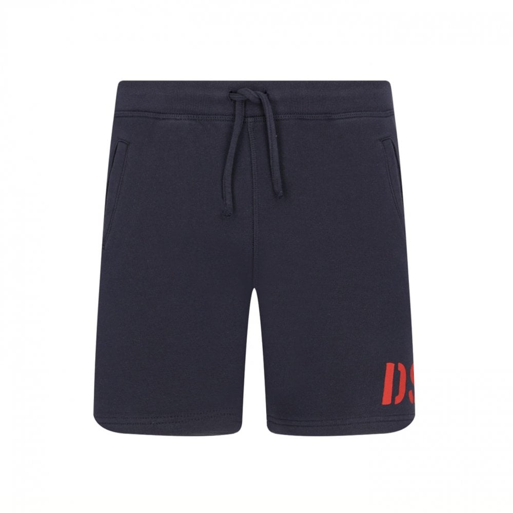 Dsquared2 Boys Cotton Navy Shorts Colour: NAVY, Size: 16 YEARS