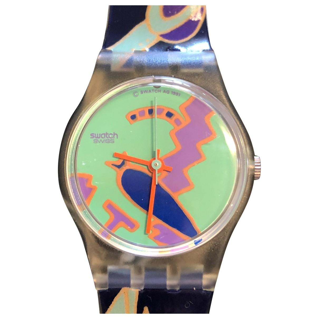 Swatch - Montre   pour femme en caoutchouc - multicolore