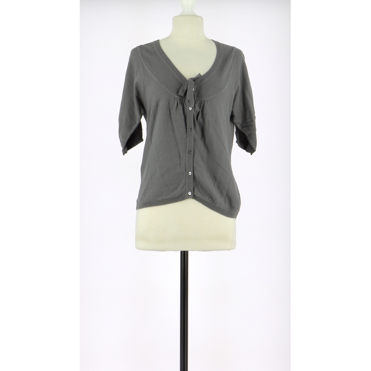 Comptoir Des Cotonniers \N Grey Cotton Knitwear for Women 36 FR