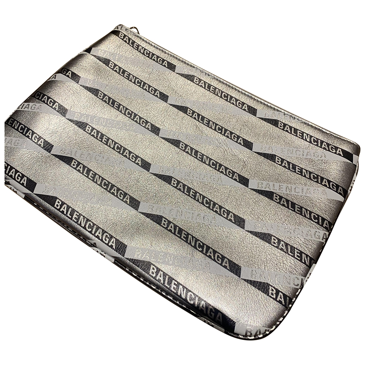 Balenciaga - Pochette   pour femme en cuir - argente