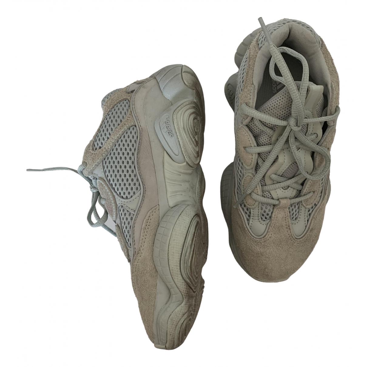 Yeezy X Adidas - Baskets 500 pour femme en suede - gris