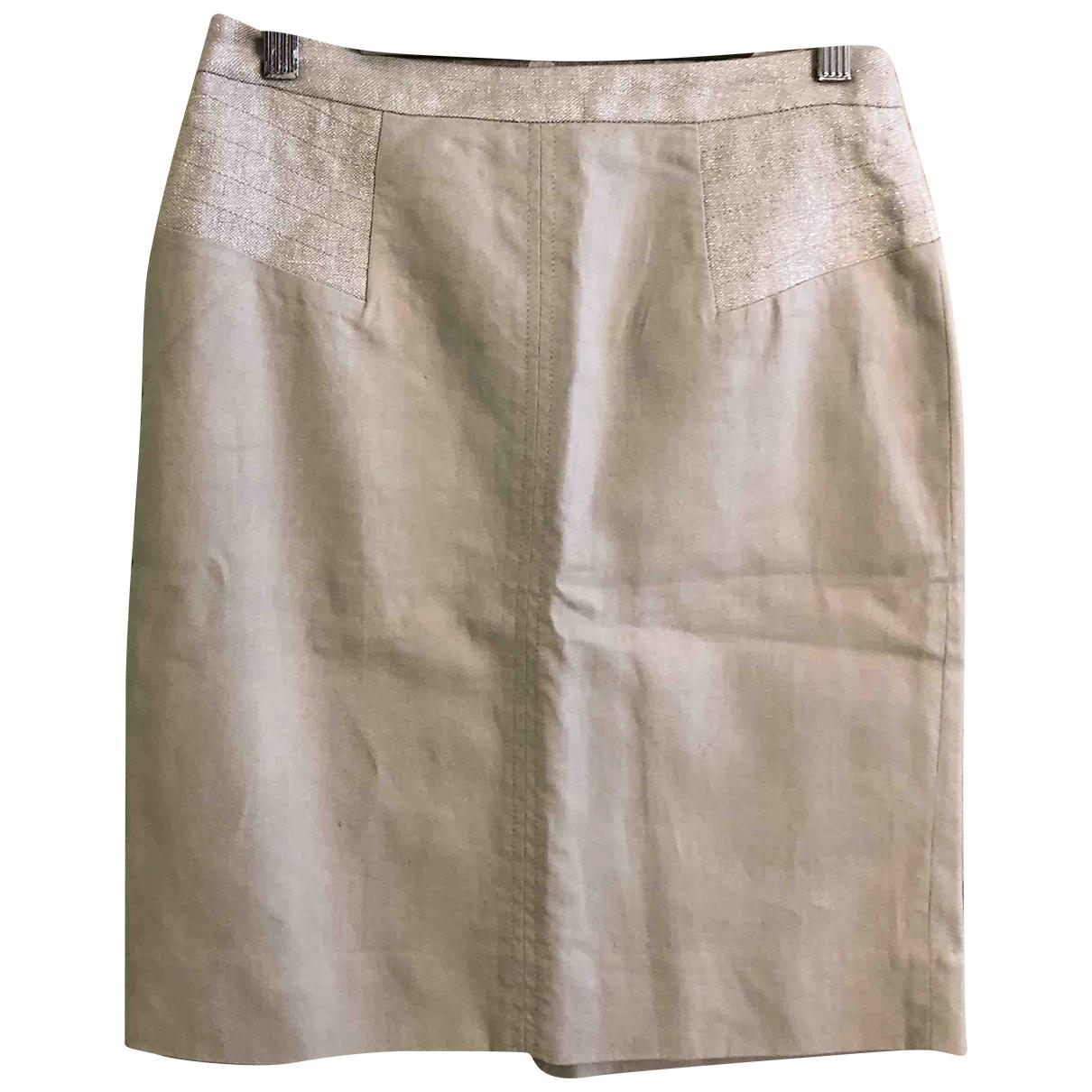Comptoir Des Cotonniers - Jupe   pour femme en lin - beige