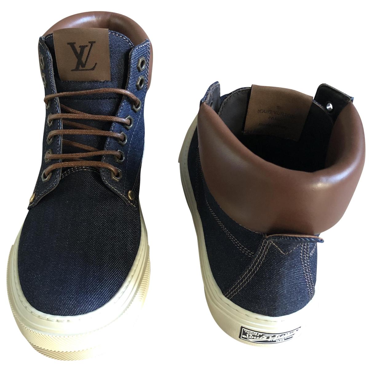 Louis Vuitton \N Sneakers in  Blau Denim - Jeans