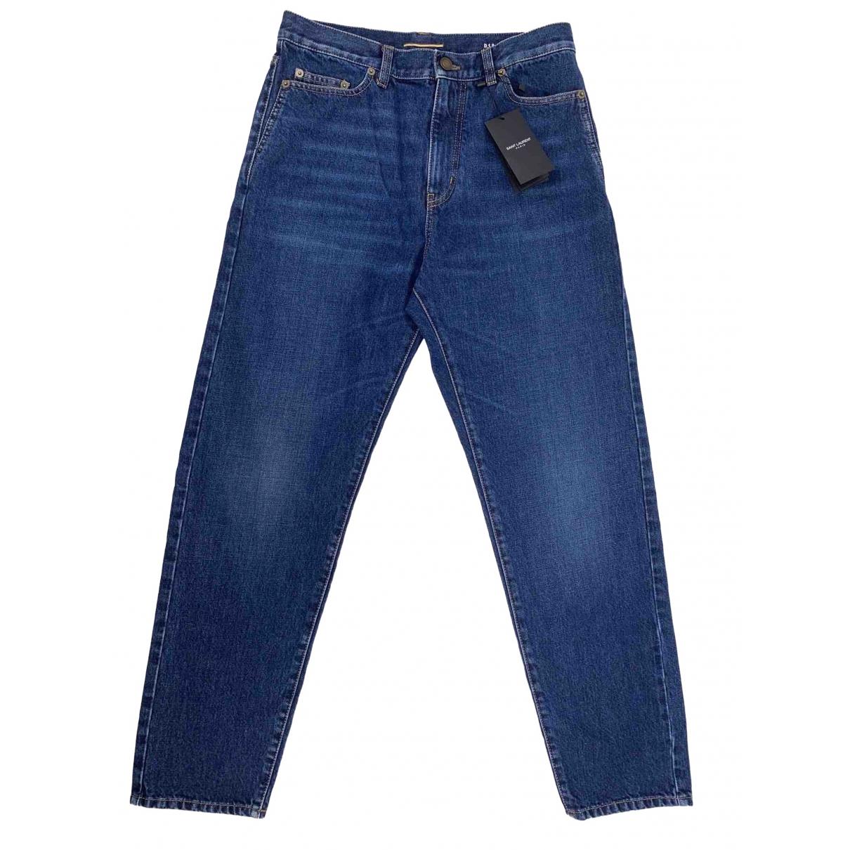 Saint Laurent \N Blue Denim - Jeans Jeans for Women 29 US