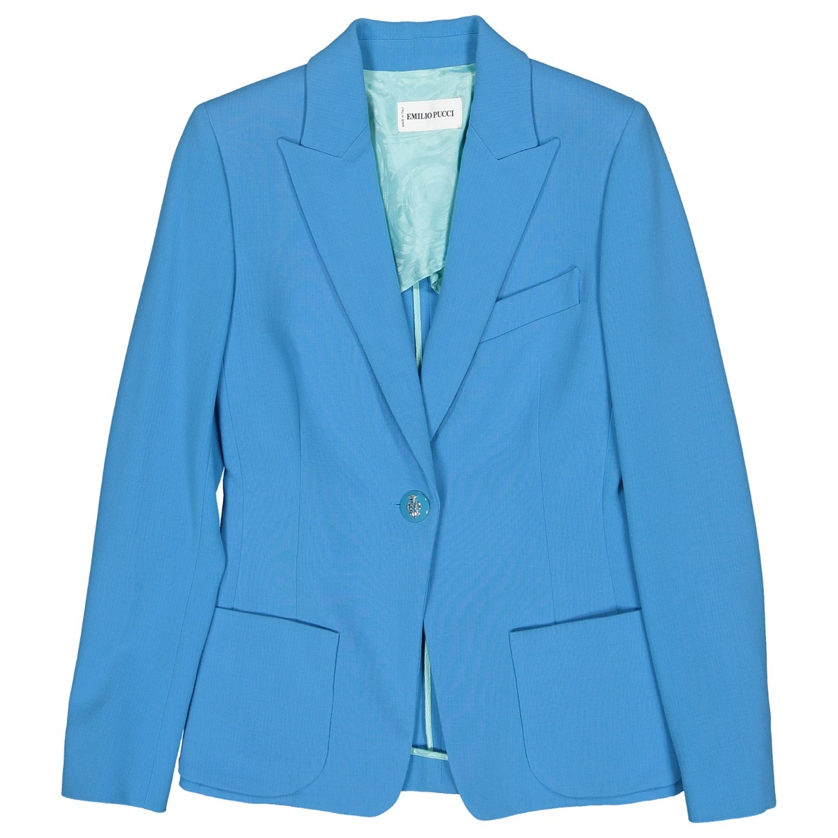 Emilio Pucci \N Blue Wool jacket for Women 40 IT