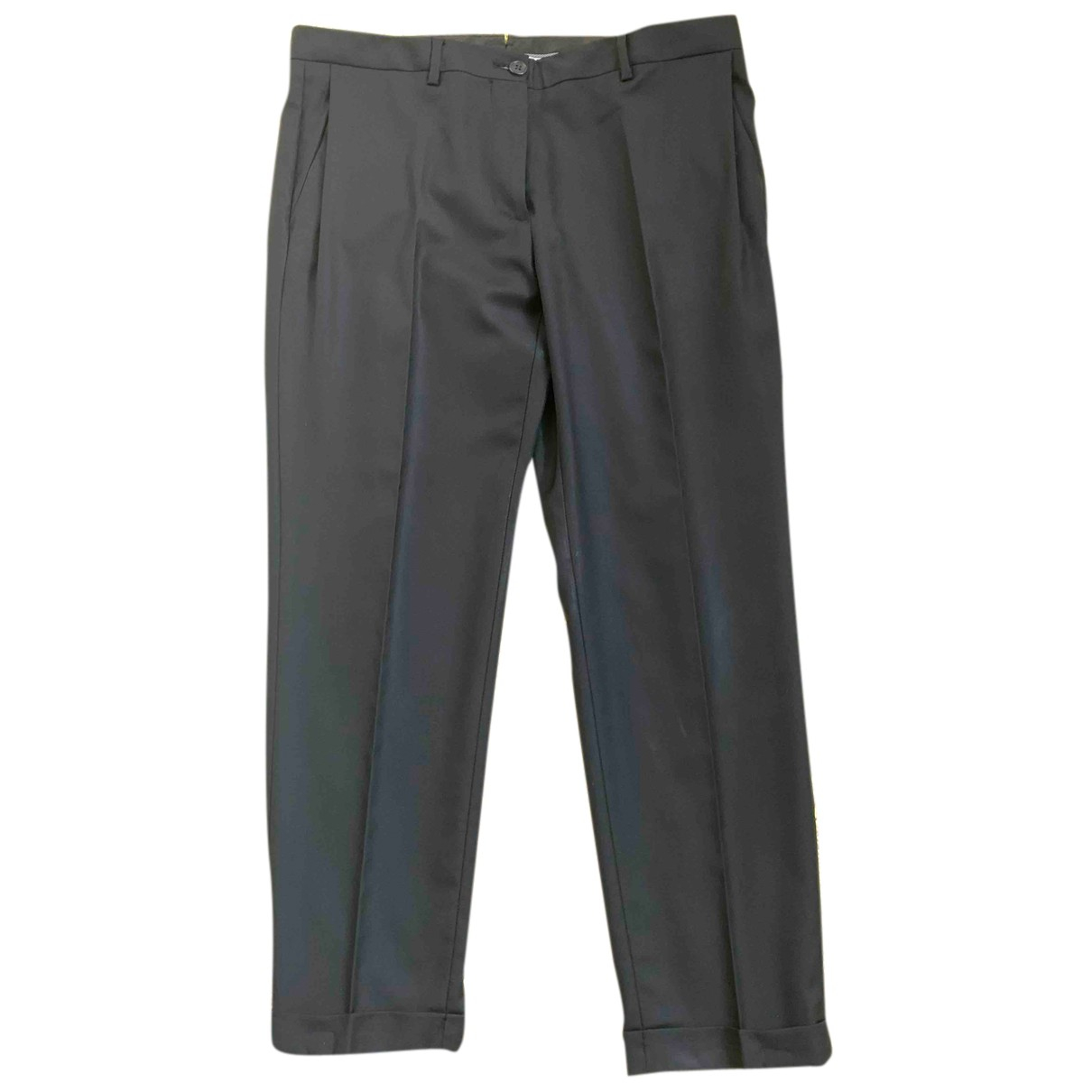 Mauro Grifoni N Black Wool Trousers for Women 42 IT