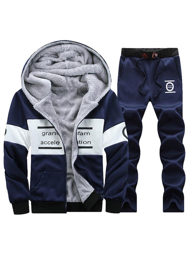 Ericdress Pants Casual Print Mens Sports Suits
