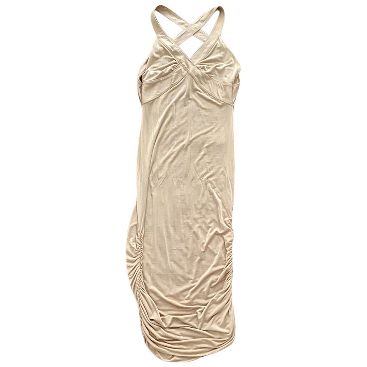 Gucci \N Kleid in  Beige Viskose