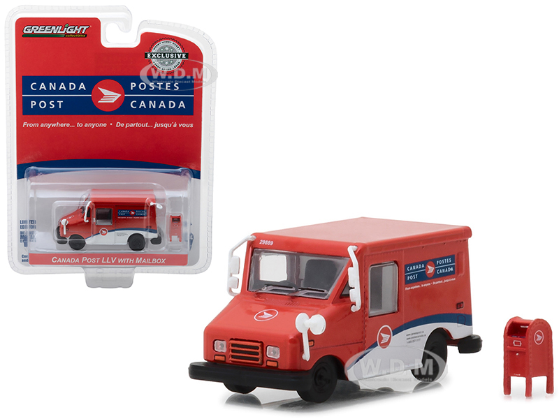 Canada Postal Service (Canada Post) Long Life Postal Mail Delivery Vehicle (LLV) with Mailbox Accessory Hobby Exclusive 1/64 Diecast Model Car by Gre