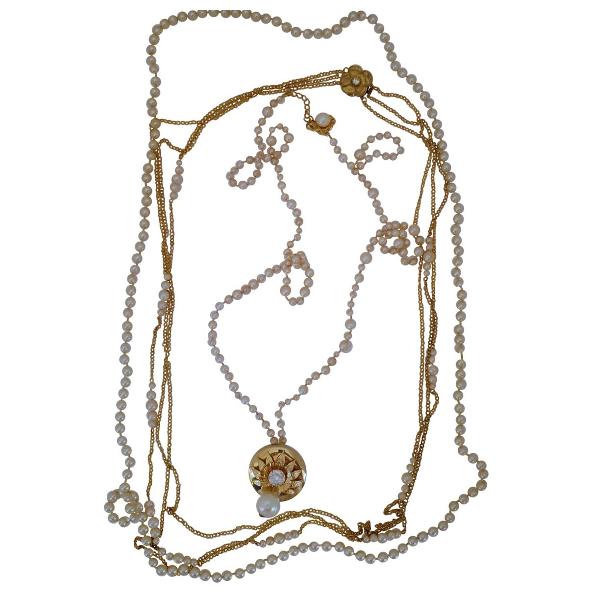 Non Signe / Unsigned Motifs Floraux Schmuck-set in  Gold Perlen