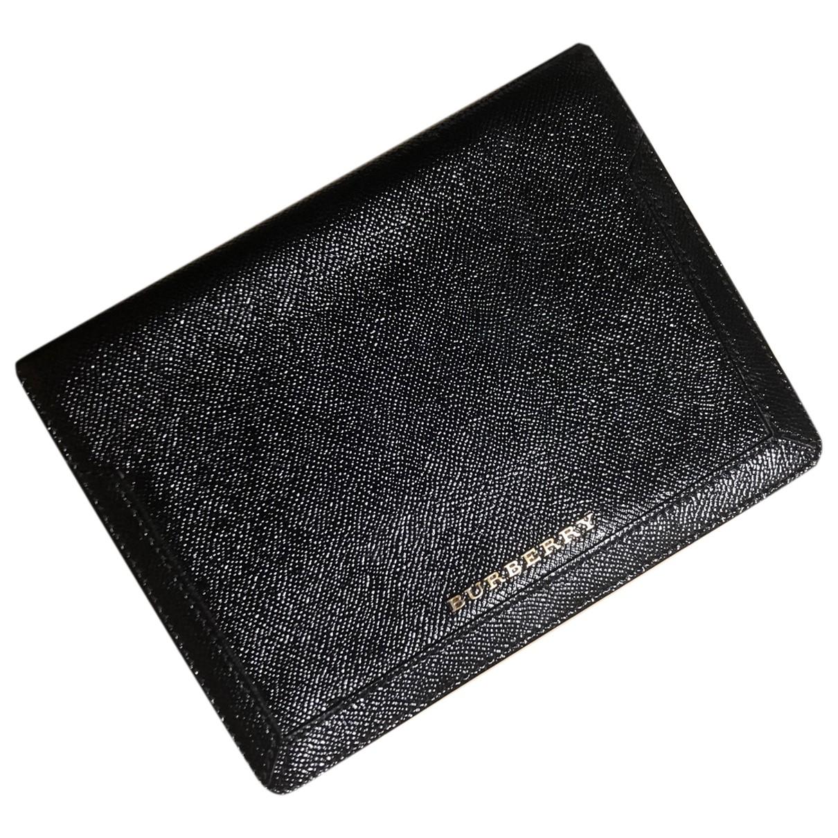 Burberry \N Accessoires in  Schwarz Leder