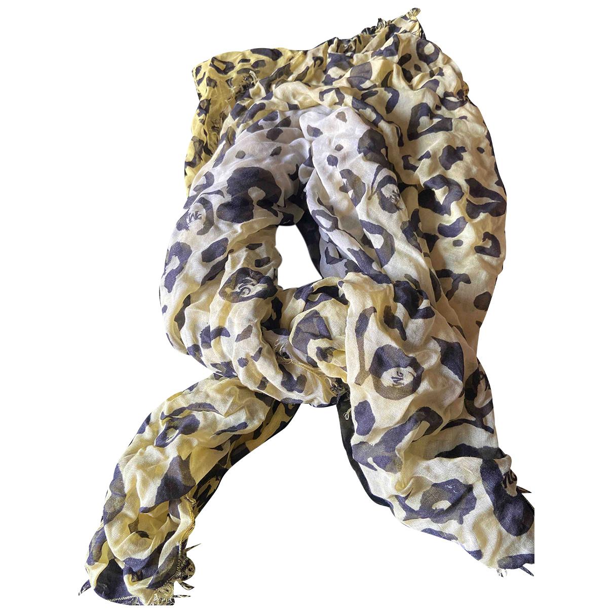 Mcq N Yellow Silk scarf for Women N