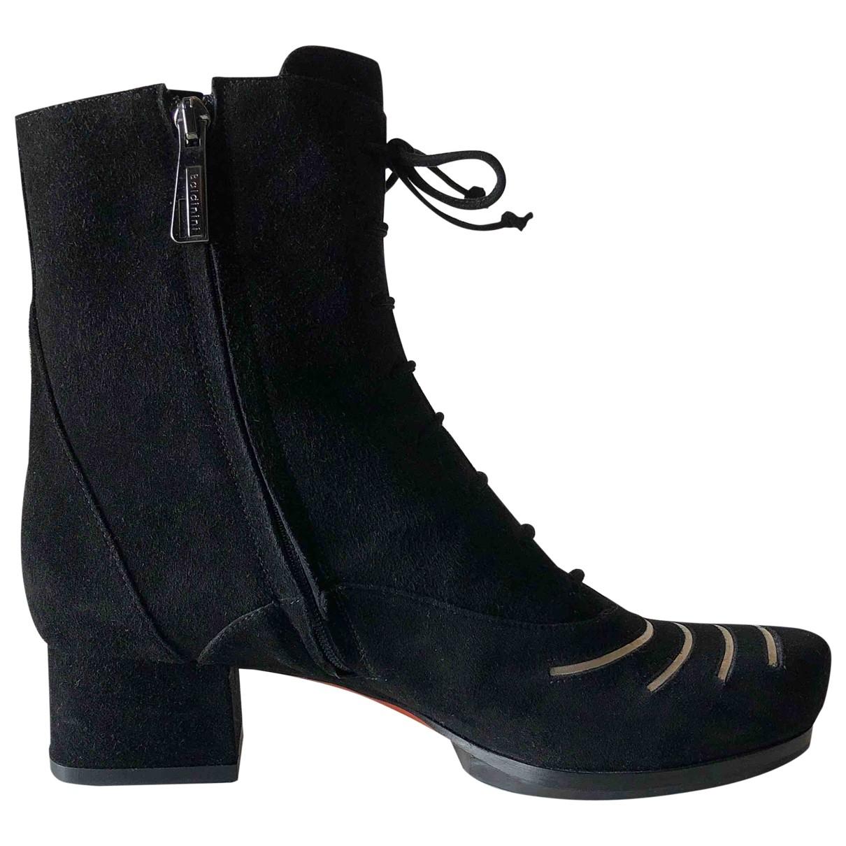 Baldinini - Boots   pour femme en suede - noir