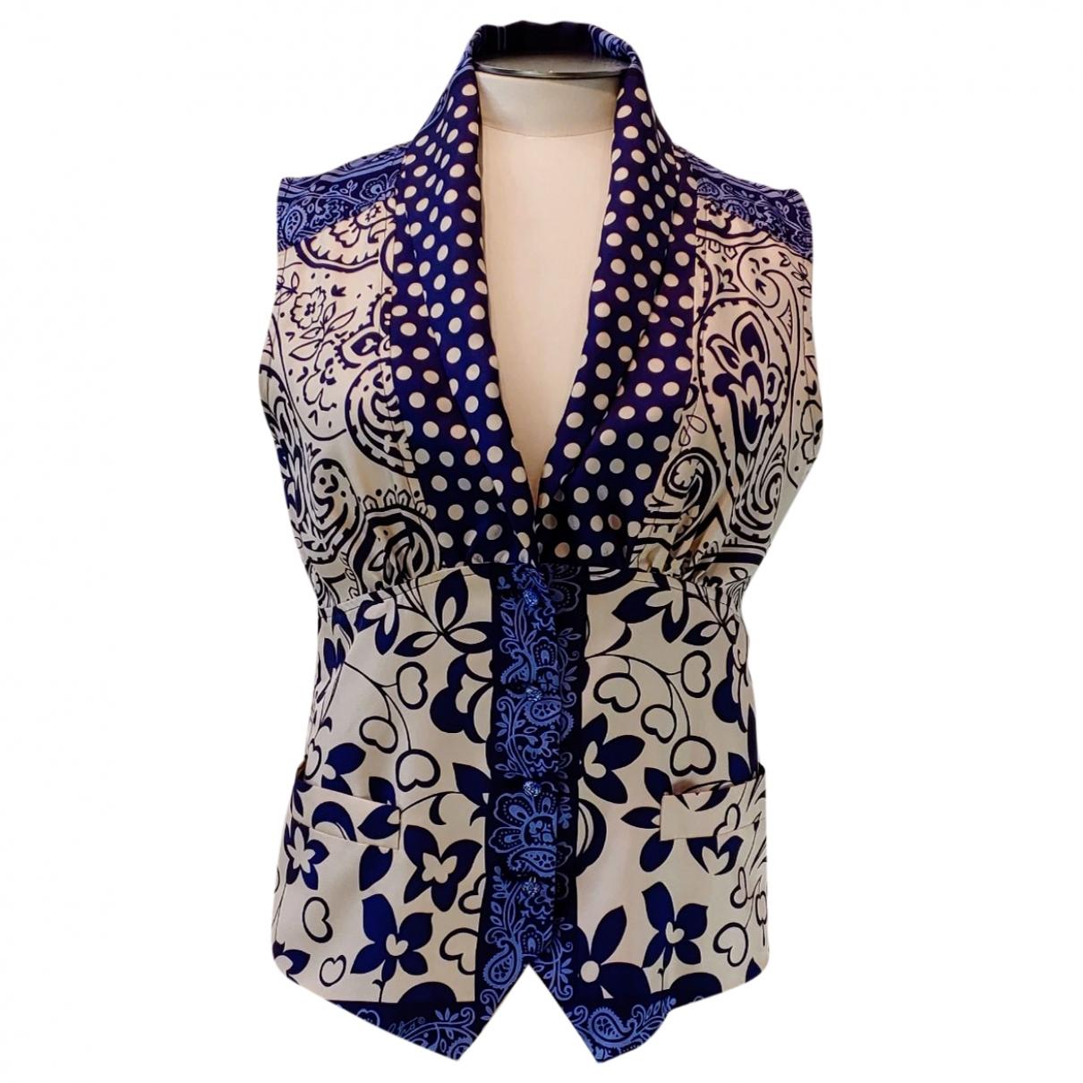 Etro \N Pullover in  Blau Seide