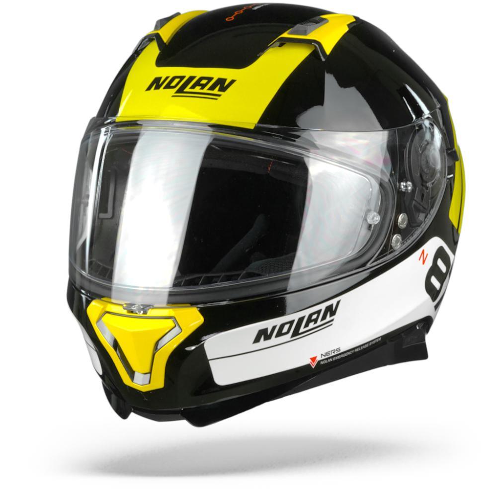 Nolan N87 Plus Distinctive 27 Casco Integral (Full Face) Negro Amarillo Blanco  L