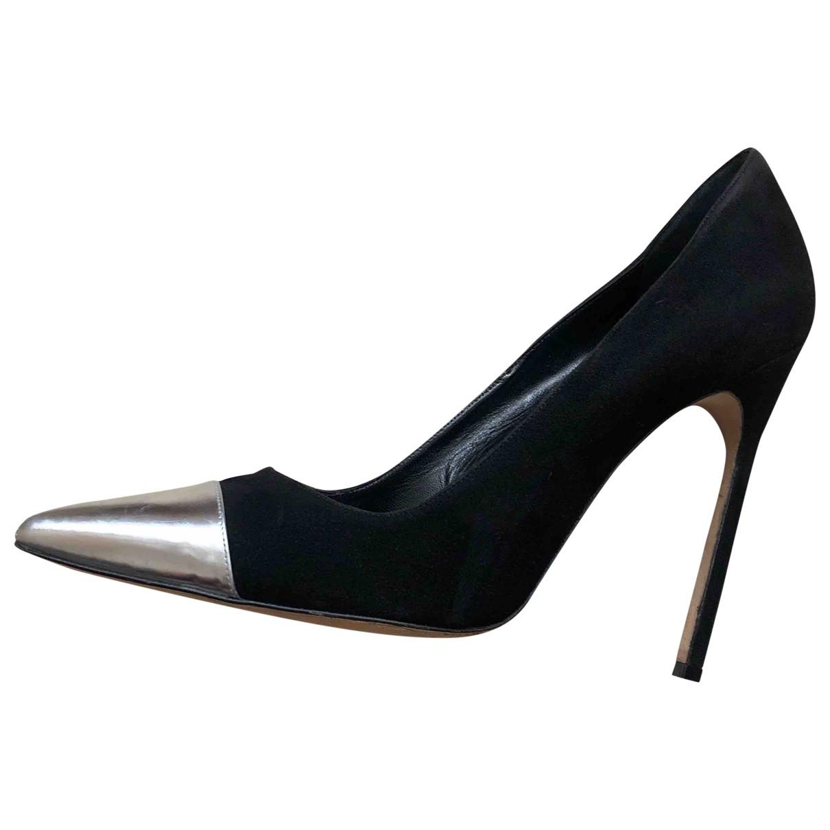 Manolo Blahnik \N Black Suede Heels for Women 40 IT