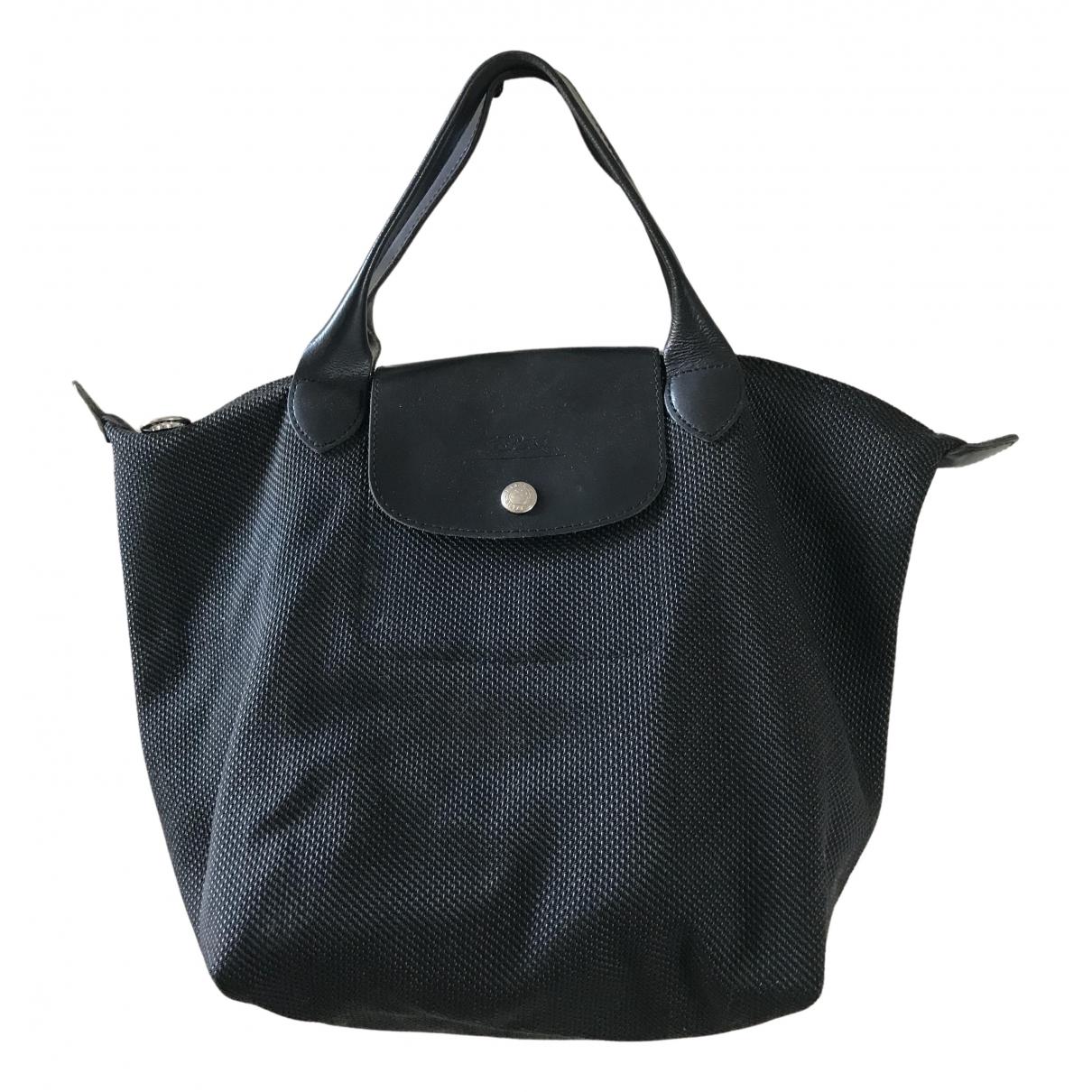 Longchamp - Sac a main   pour femme en toile - anthracite