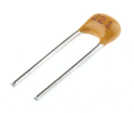 KEMET 220pF Multilayer Ceramic Capacitor MLCC 200V dc ±5% Through Hole C315C221J2G5TA (5)
