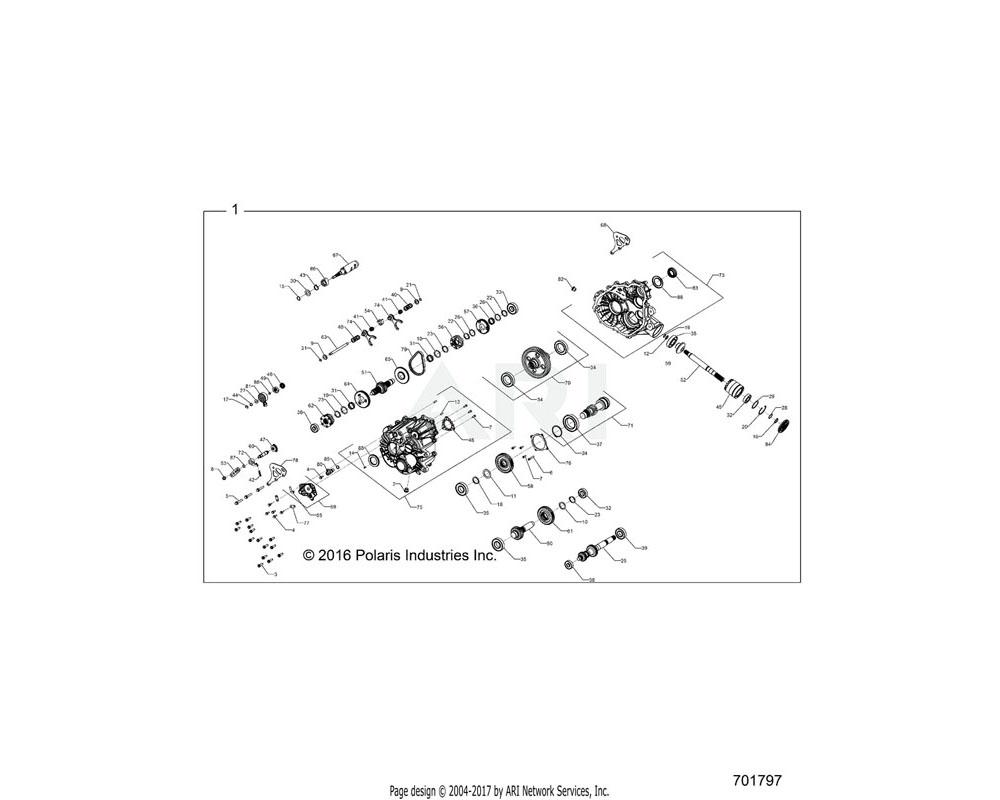 Polaris OEM 1333695 ASM-GEARCASE, COMPLETE